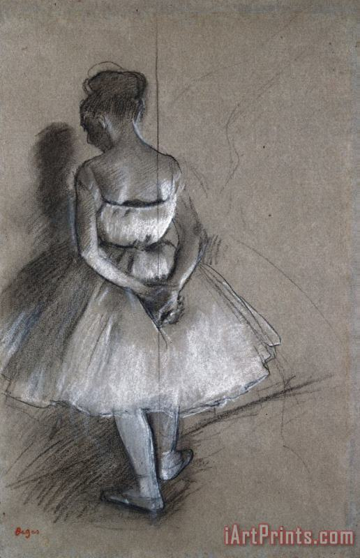 Dancer Standing, Her Hands Crossed Behind Her Back painting - Edgar Degas Dancer Standing, Her Hands Crossed Behind Her Back Art Print