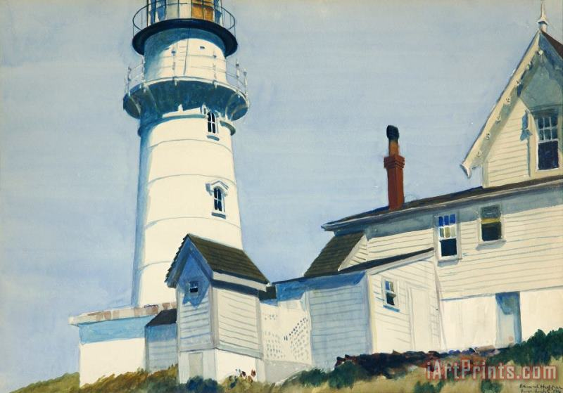 Light at Two Lights painting - Edward Hopper Light at Two Lights Art Print