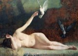 Woman with Pigeons by Ernst Philippe Zacharie