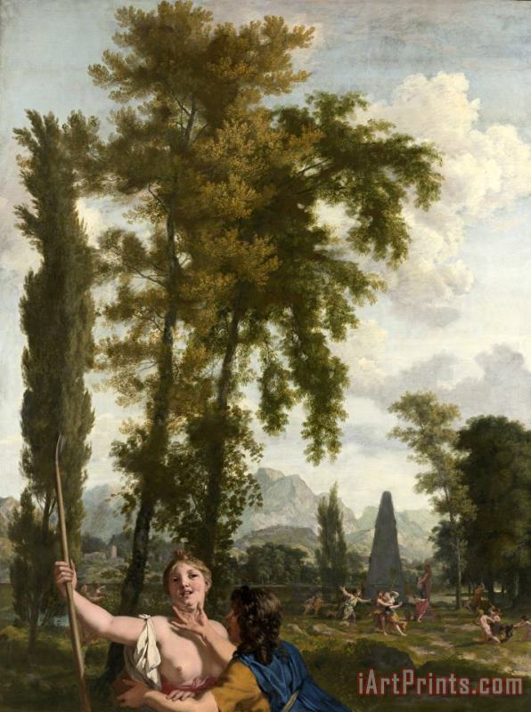 Italian Landscape with Shepherd And Shepherdess painting - Gerard de Lairesse Italian Landscape with Shepherd And Shepherdess Art Print