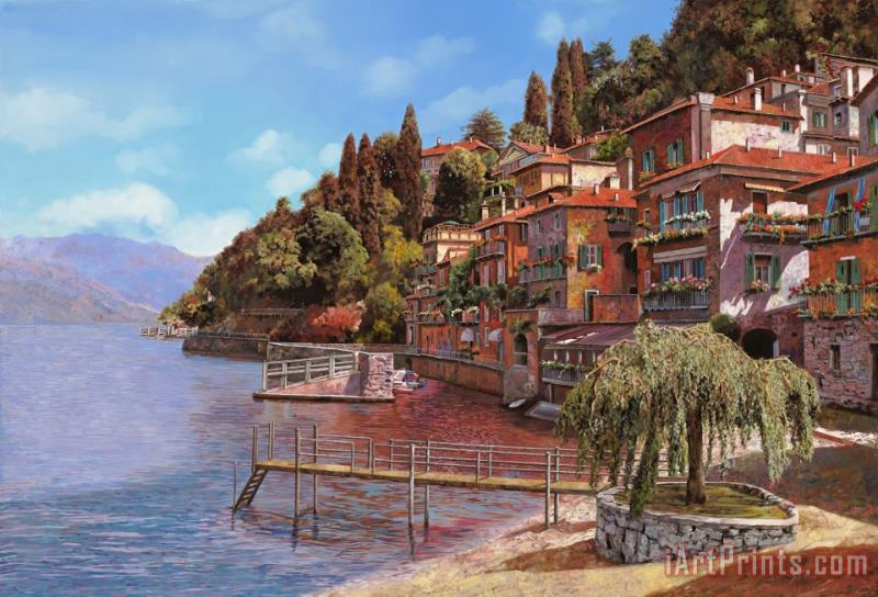 Varenna on Lake Como painting - Collection 7 Varenna on Lake Como Art Print