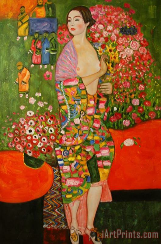 Dancer painting - Gustav Klimt Dancer Art Print