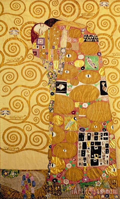 Fulfilment Stoclet Frieze painting - Gustav Klimt Fulfilment Stoclet Frieze Art Print