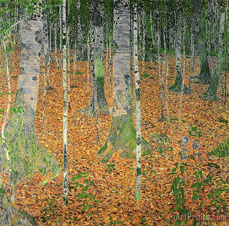 The Birch Wood painting - Gustav Klimt The Birch Wood Art Print