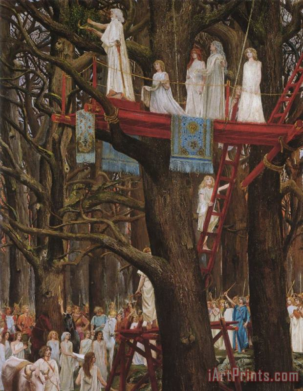 Henri-Paul Motte Druids Cutting The Mistletoe on The Sixth Day of The Moon Art Print