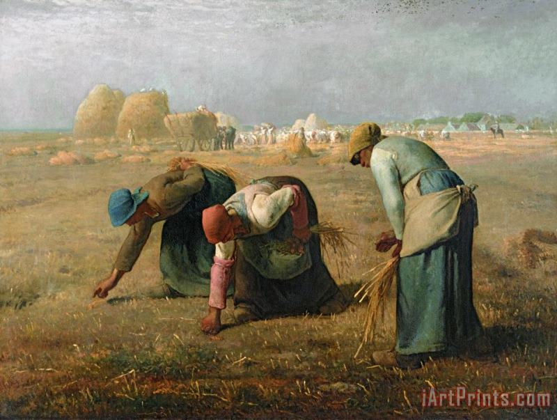 Jean-Francois Millet The Gleaners Art Painting