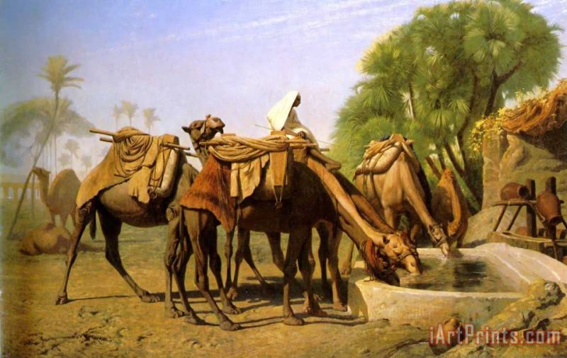 Camels at The Trough painting - Jean Leon Gerome Camels at The Trough Art Print