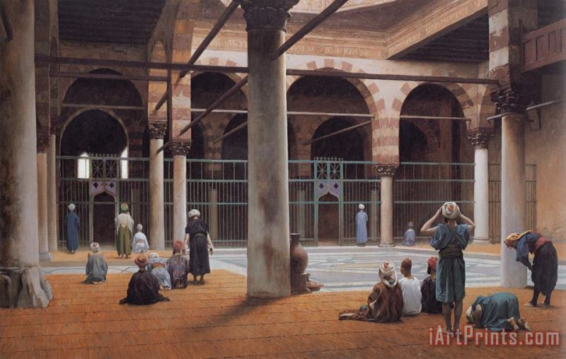Interior of a Mosque painting - Jean Leon Gerome Interior of a Mosque Art Print