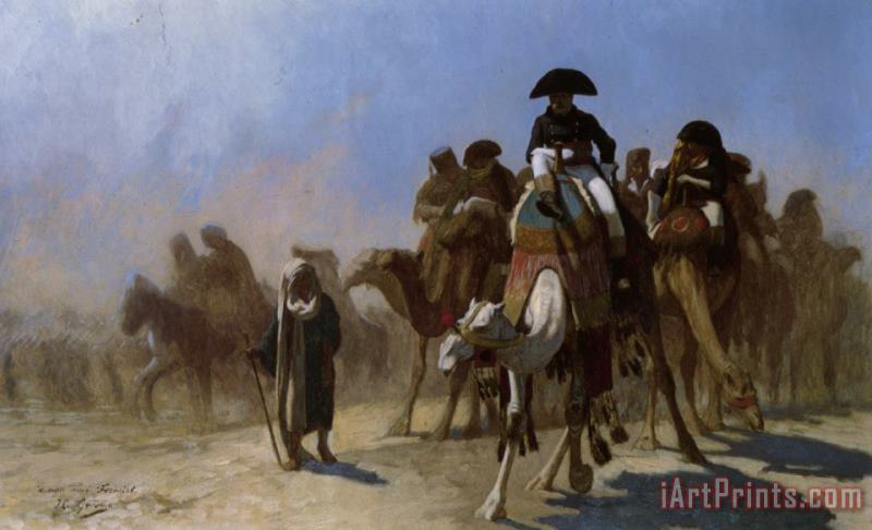 Napoleon And His General Staff painting - Jean Leon Gerome Napoleon And His General Staff Art Print