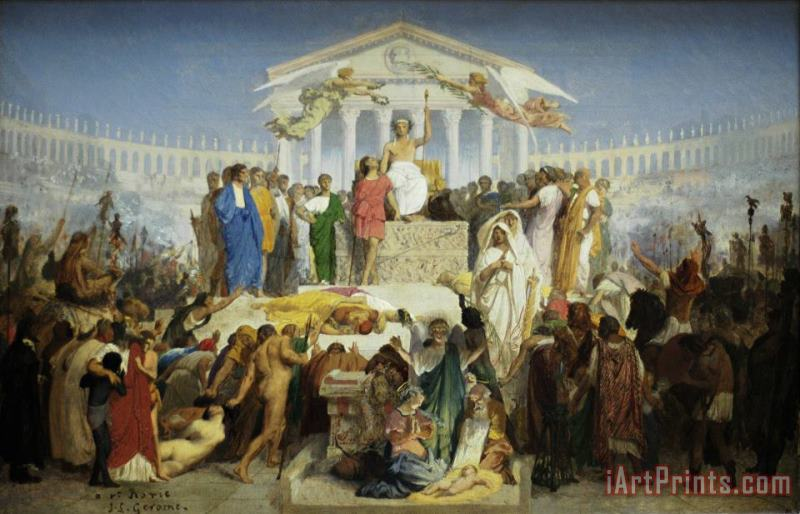 Study for The Age of Augustus, Birth of Christ painting - Jean Leon Gerome Study for The Age of Augustus, Birth of Christ Art Print