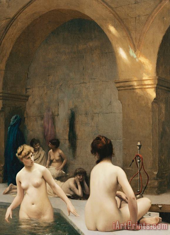 The Bathers painting - Jean Leon Gerome The Bathers Art Print
