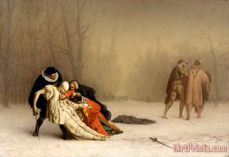 The Duel After The Masquerade painting - Jean Leon Gerome The Duel After The Masquerade Art Print