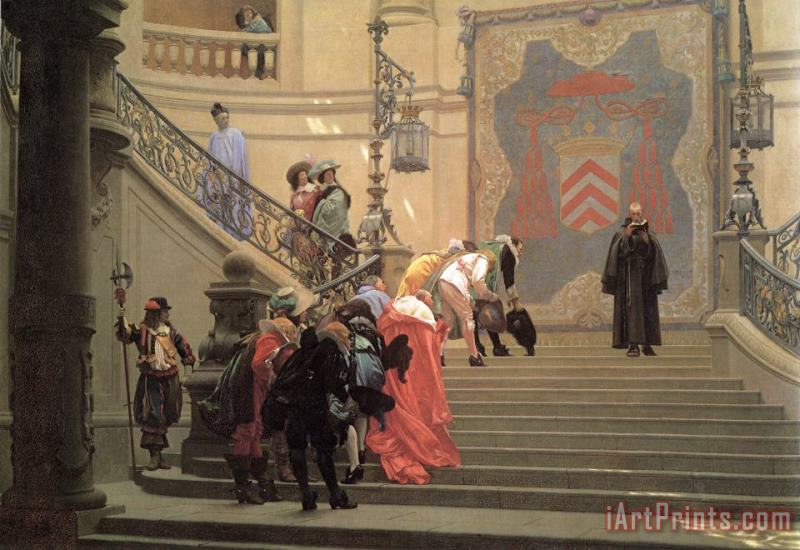 The Grey Cardinal painting - Jean Leon Gerome The Grey Cardinal Art Print