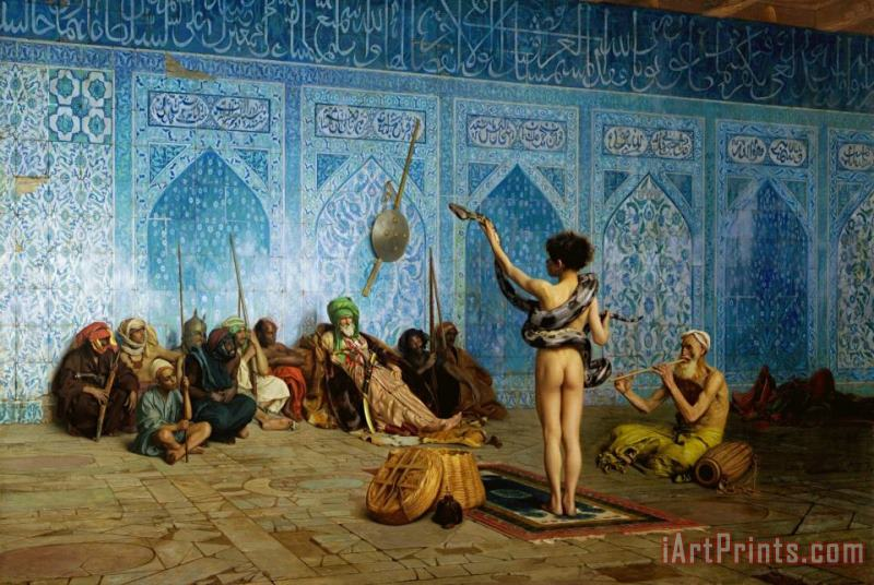 The Serpent Charmer painting - Jean Leon Gerome The Serpent Charmer Art Print