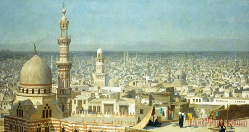 View Of Cairo painting - Jean Leon Gerome View Of Cairo Art Print