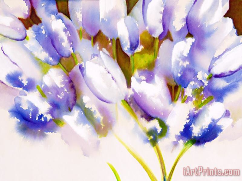 Tulips are People III painting - Jerome Lawrence Tulips are People III Art Print