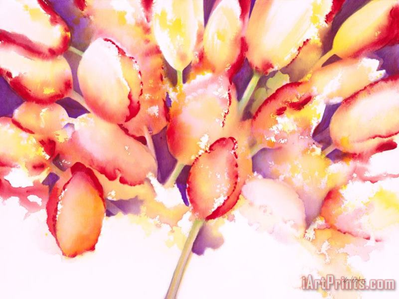 Tulips are People IV painting - Jerome Lawrence Tulips are People IV Art Print