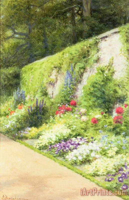 Joseph Farquharson The Artists Garden Art Print