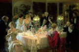 The End of Dinner by Jules Alexandre Grun