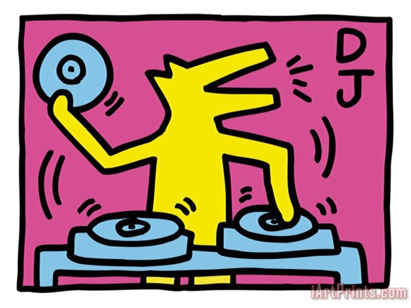 Keith Haring Pop Shop Dj painting