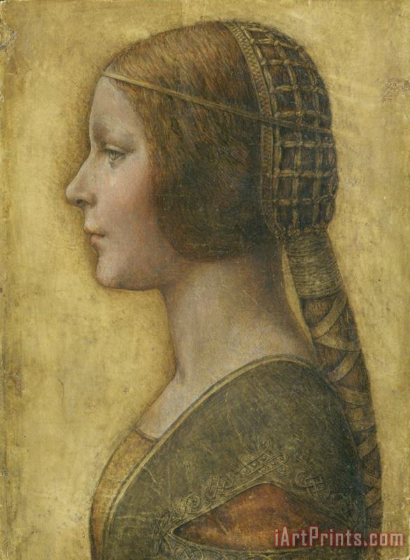 Profile Of A Young Fiancee painting - Leonardo da Vinci Profile Of A Young Fiancee Art Print