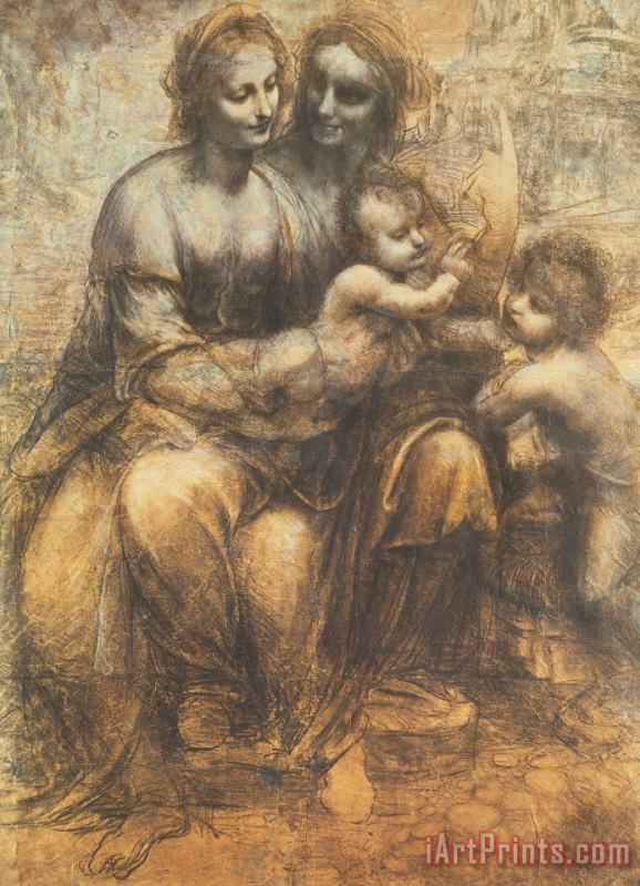 The Virgin And Child With Saint Anne And The Infant Saint John The Baptist painting - Leonardo da Vinci The Virgin And Child With Saint Anne And The Infant Saint John The Baptist Art Print