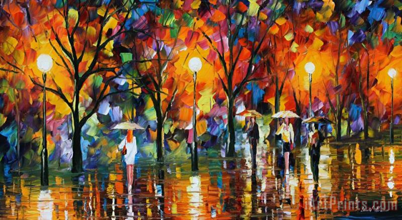 The Song Of Rain painting - Leonid Afremov The Song Of Rain Art Print