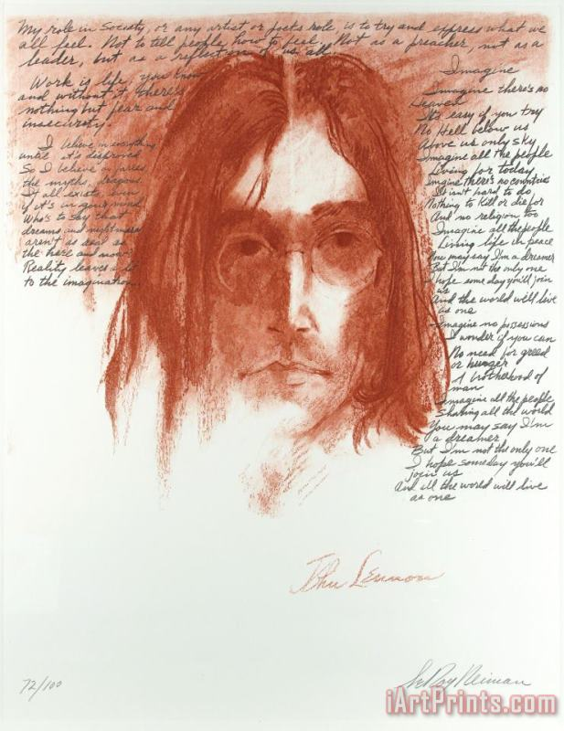 Leroy Neiman John Lennon Imagine Painting John Lennon Imagine Print For Sale