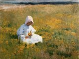 In a Field of Buttercups by Marianne Stokes