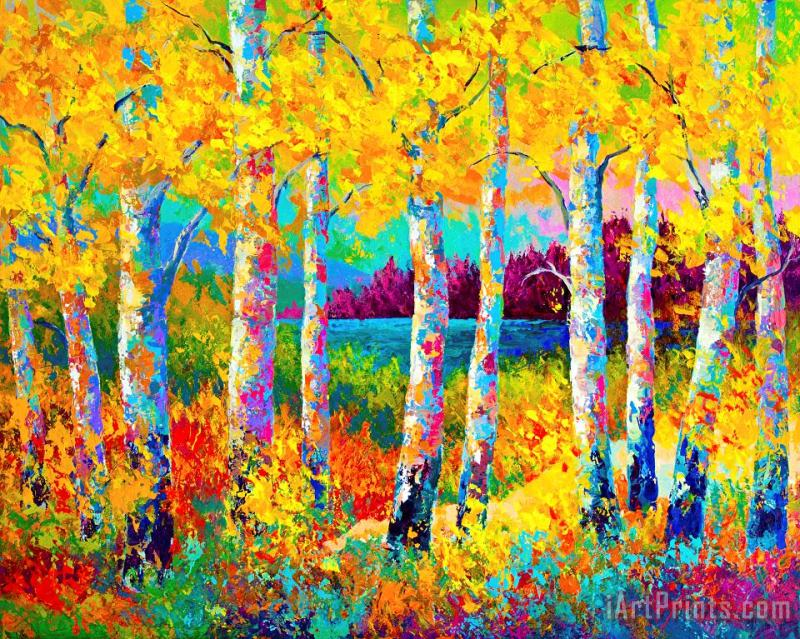 Autumn Jewels painting - Marion Rose Autumn Jewels Art Print
