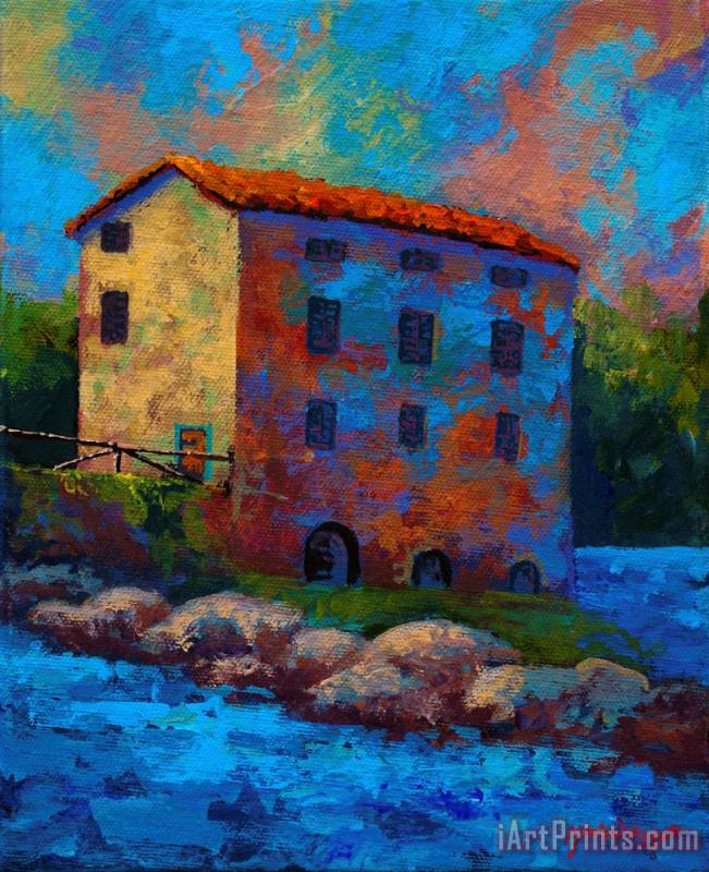 Tuscan Mill painting - Marion Rose Tuscan Mill Art Print