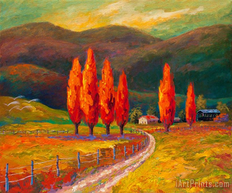 Valley Farm painting - Marion Rose Valley Farm Art Print