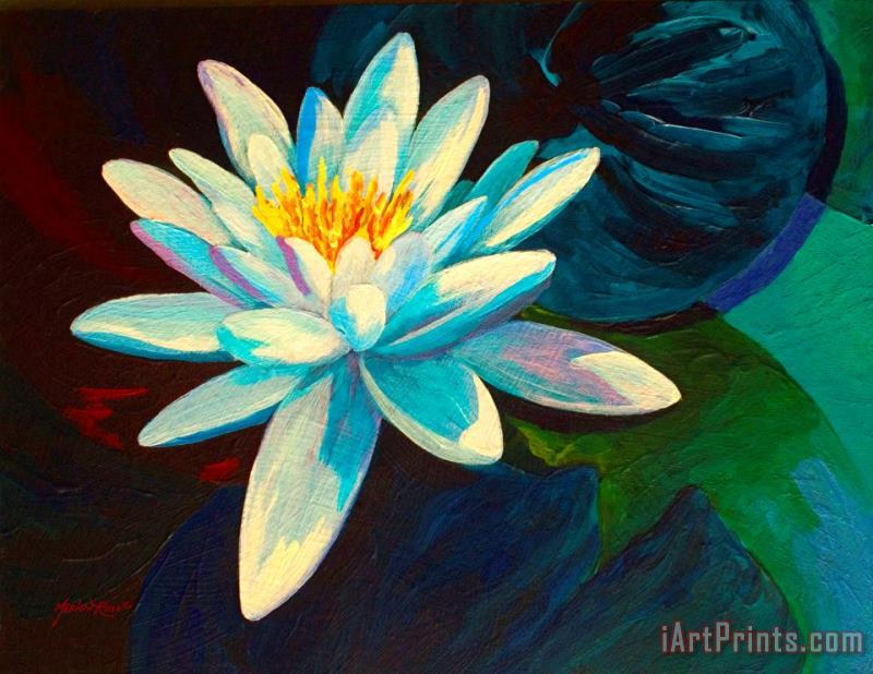 White Lily III painting - Marion Rose White Lily III Art Print