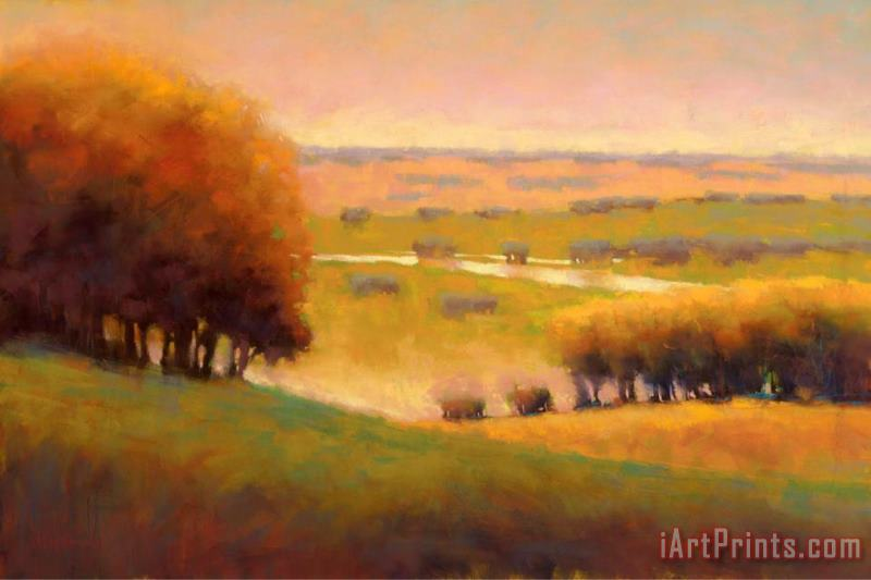 Marla Baggetta Autumn View II painting - Marla Baggetta Marla Baggetta Autumn View II Art Print