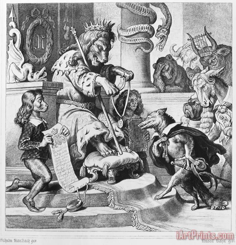 Reynard The Fox, 1846 after Wilhelm von Kaulbach