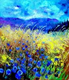 Blue cornflowers 67 by Pol Ledent