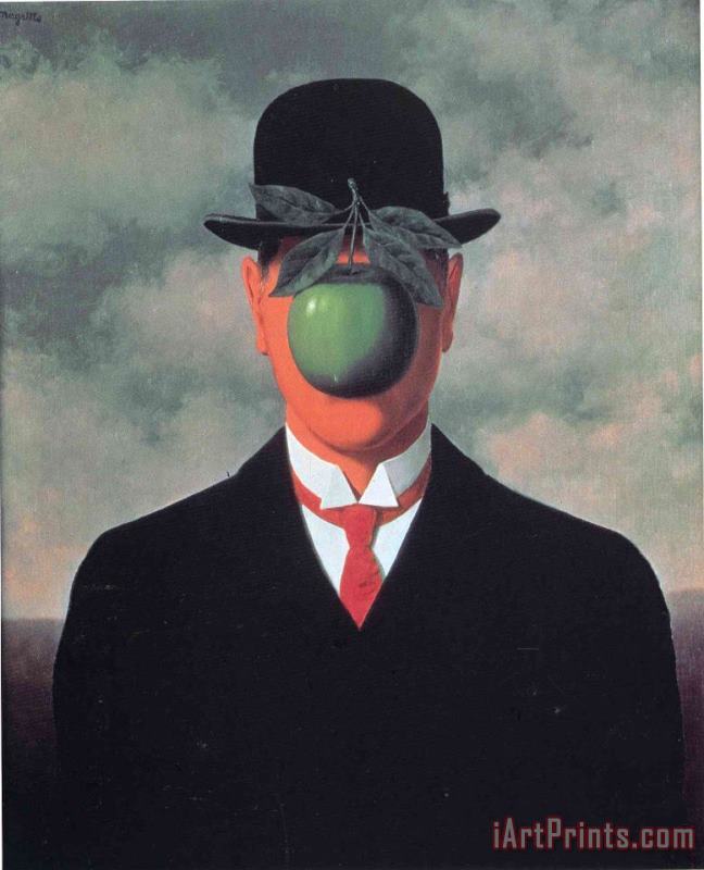 The Great War 1964 painting - rene magritte The Great War 1964 Art Print
