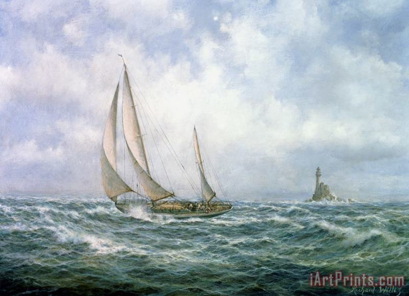 Fastnet Abeam painting - Richard Willis Fastnet Abeam Art Print