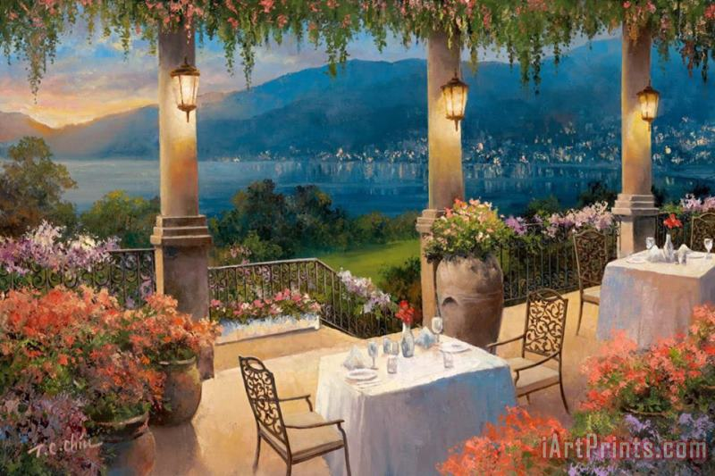 Amalfi Holiday II painting - T. C. Chiu Amalfi Holiday II Art Print