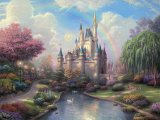 A New Day at The Cinderella Castle by Thomas Kinkade