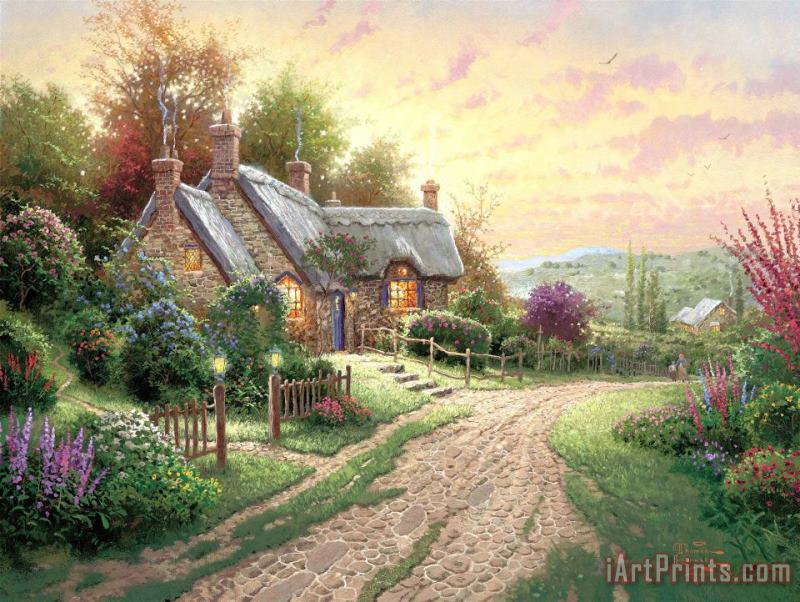A Peaceful Time painting - Thomas Kinkade A Peaceful Time Art Print