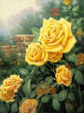 A Perfect Yellow Rose by Thomas Kinkade