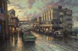 Cannery Row Sunset by Thomas Kinkade