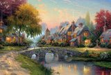 Cobblestone Bridge by Thomas Kinkade