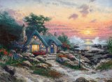 Cottage by The Sea by Thomas Kinkade