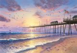 Footprints in The Sand by Thomas Kinkade