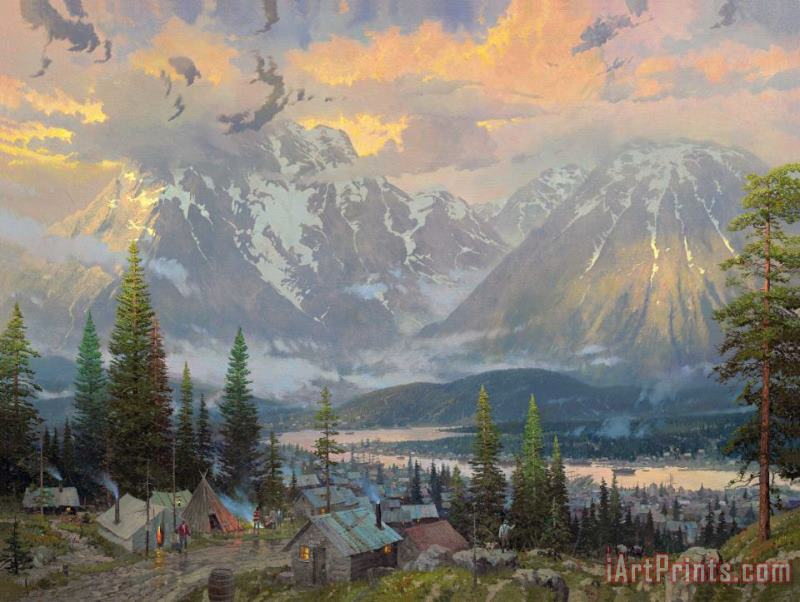 Great North painting - Thomas Kinkade Great North Art Print