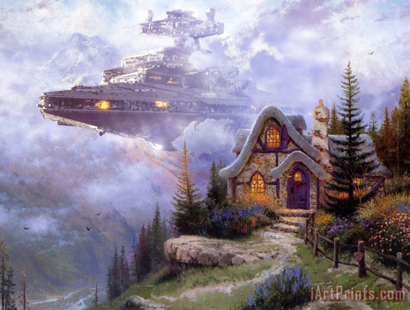 War on Thomas I painting - Thomas Kinkade War on Thomas I Art Print