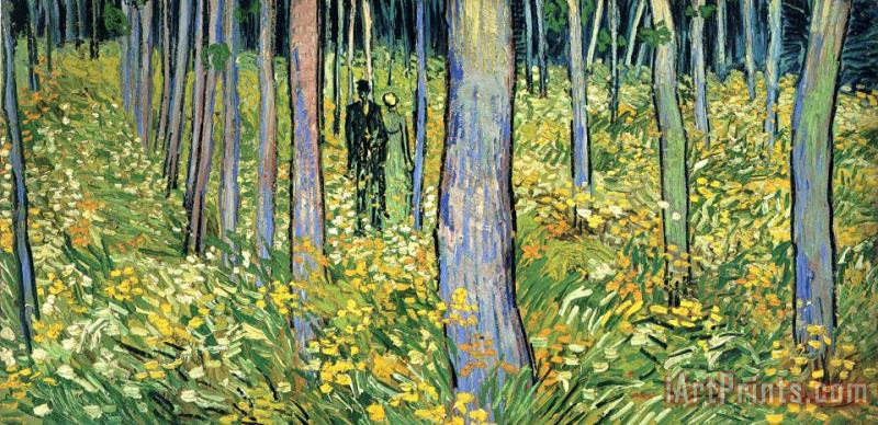 Vincent van Gogh Undergrowth with Two Figures