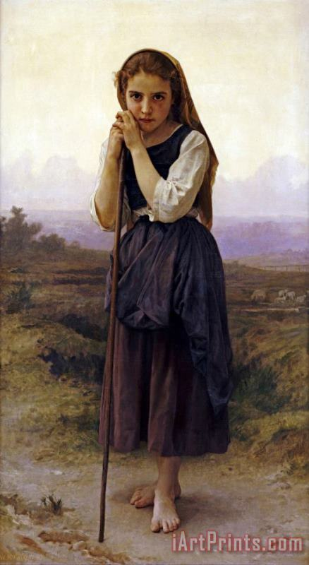 Petite Bergere painting - William Adolphe Bouguereau Petite Bergere Art Print